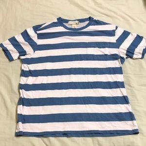 6e40f13a618 H M Shirts - Blue and White Stripe Tee